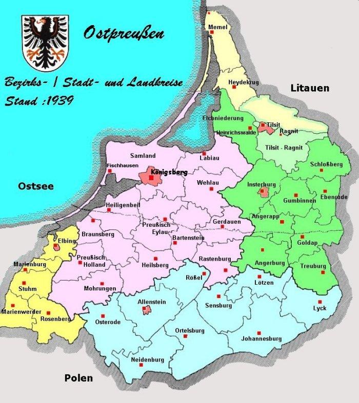 Pommern Karte Vor 1945.Ostpreussen Und Westpreußen